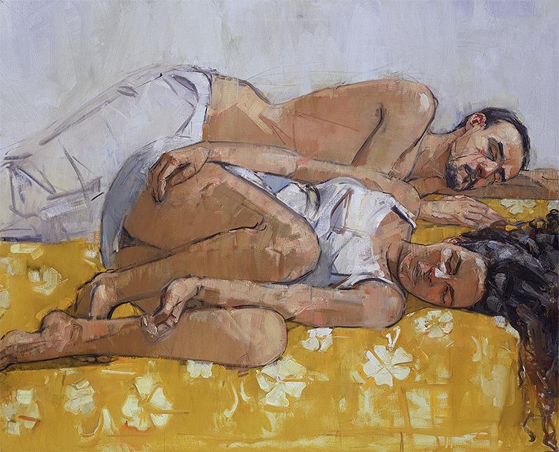 Mary Beth McKenzie, Sleep (Christina and Beñat), undated. Oil on canvas, 48 x 60 in.