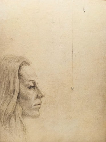 131104-s-silverpoint-Richard-Husson,-_Josephine's-Tears_,-silverpoint-and-colored-pencil-on-tinted-and-hand-textured-Masonite,-12-x-16-p