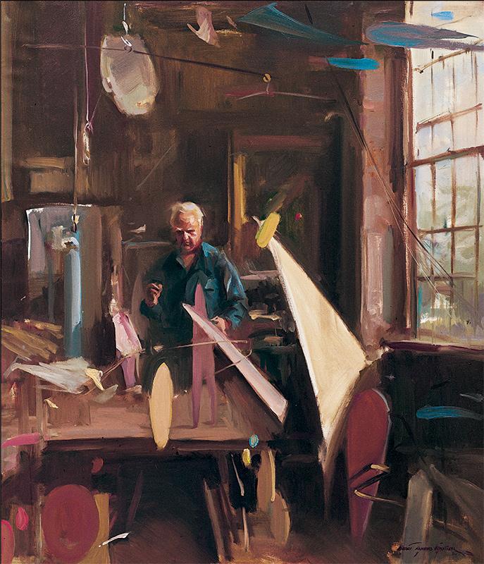 Everett Raymond Kinstler, Former Student of The Art Students League of New York, Alexander Calder, 1972. Oil on canvas