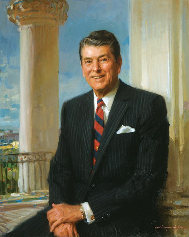 Everett Raymond Kinstler, President Ronald Reagan, Official White House Portrait.