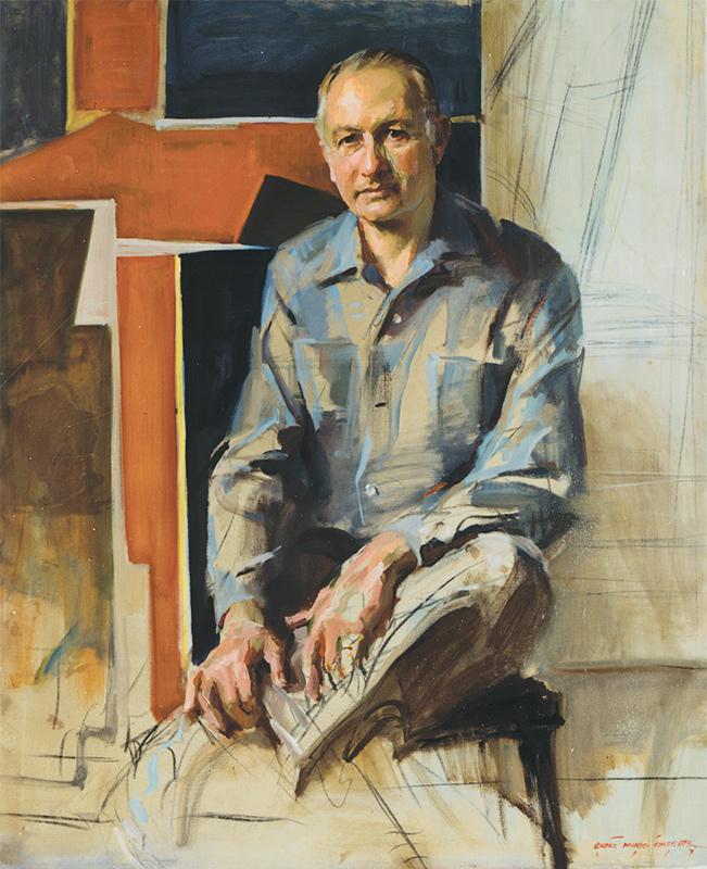 Everett Raymond Kinstler, Will Barnet, 1977. Oil on canvas, Everett Raymond Kinstler is a former student of the Arts Students League of New York