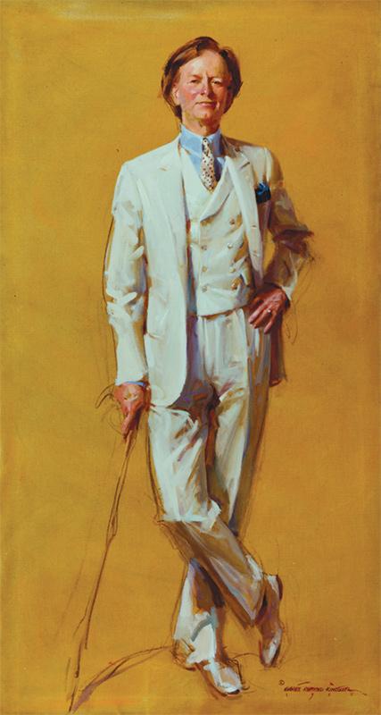 Everett Raymond Kinstler, former student of The Artist Students League of New York, Tom Wolfe, 1987