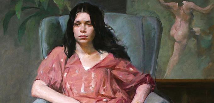 Burton Silverman, Ambivalence, 2008. Oil on linen, 39 x 30 in.