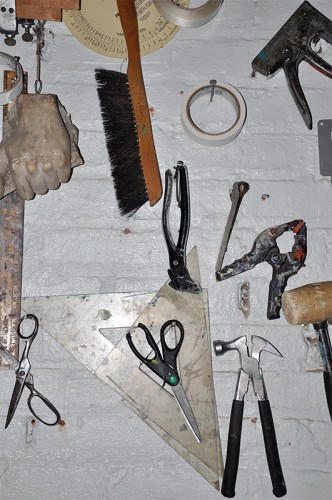 Tools hanging on the wall