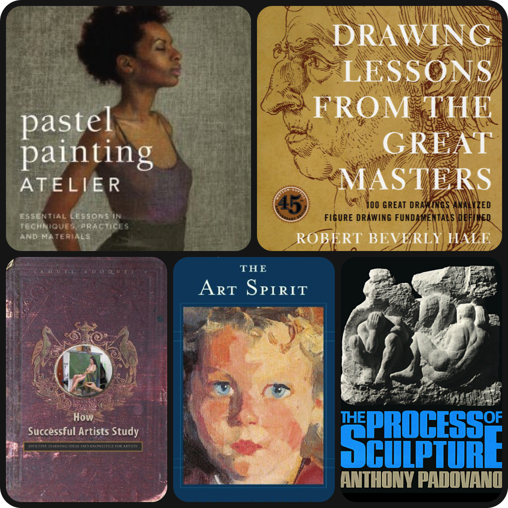 artist's bookshelf