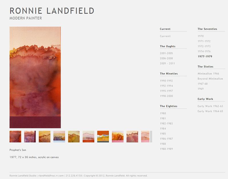 Artists' Websites Now