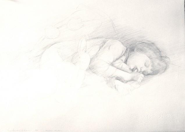 131104-s-silverpoint-Ephraim-Rubenstein,-_MaddieAsleep_,-silverpoint-on-prepared-paper,--21-x-16-p