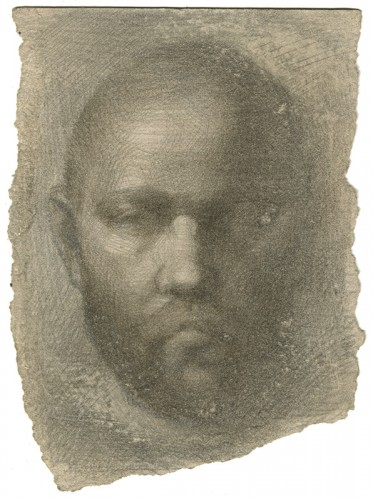 131104-s-silverpoint-Evan-Kitson,-_Self-Portrait,-Sick_,-silverpoint-on-paper,-3-+-x-4-+-p