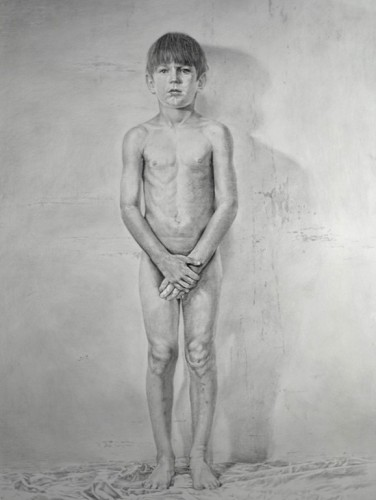131104-s-silverpoint-Sherry-Camhy,-_Innocence_,-silverpoint-on-gray-clay-board,-35-x-46-p
