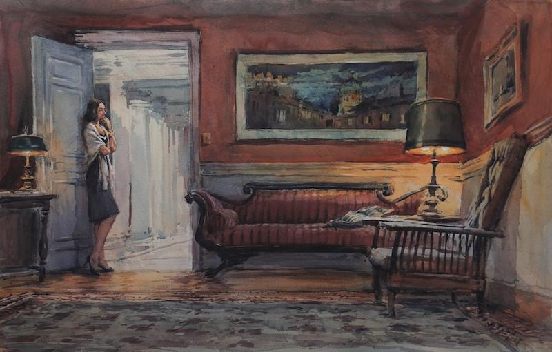 timothy j. clark watercolor