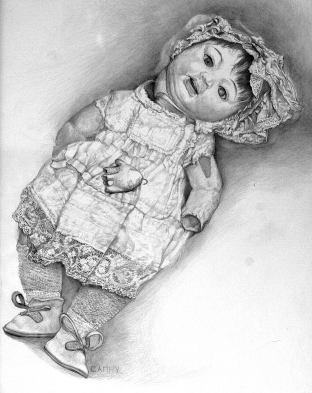 Aunt Helen's Doll - I, 2008 Silverpoint, 21 x25, 2008