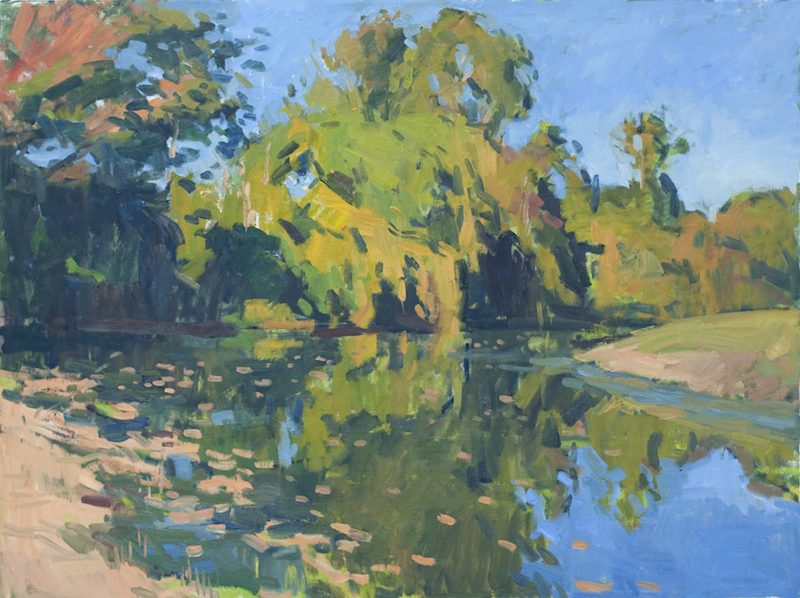 Jerry Weiss, October Afternoon, 2012. Oil on canvas, 30 x 40 in.