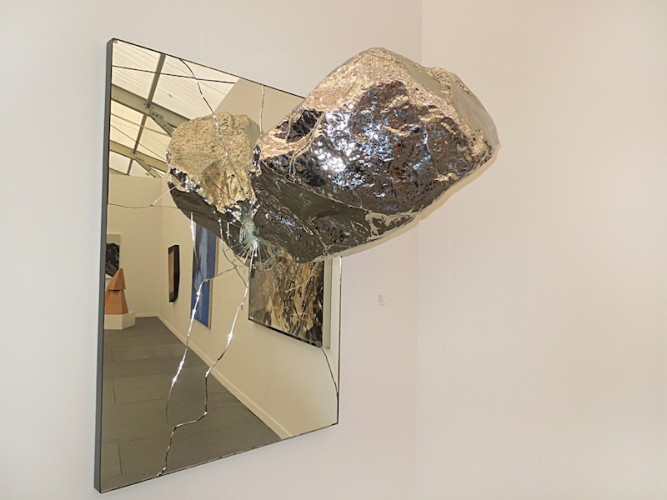 18 Zhan Wang Artificial Rock No. 60 2006 Ed 1-4 Stainless steel 126 x 72 x 230cm or No. 150, 2010 Ed. 2-4 242 x 100.5 x300cm Long March Space Beijing