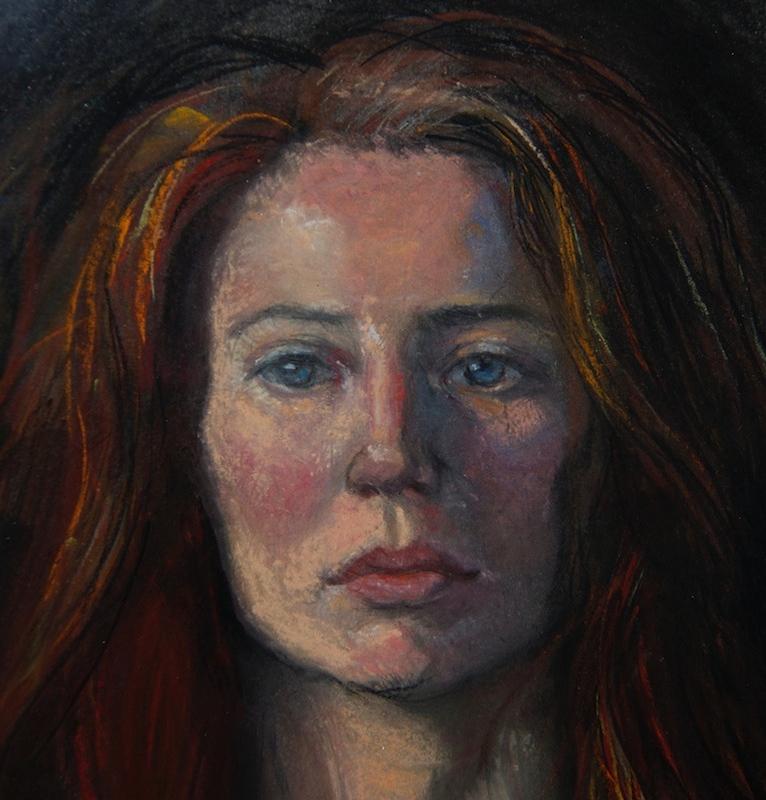Sherry Camhy, Portrait of Julie, 2011. Pan pastel on board.