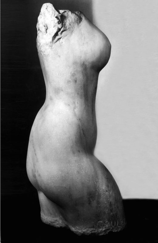 Lorrie Goulet, Nessa, 1959. White Carrara mable, 13 x 13 in. Collection of the artist.