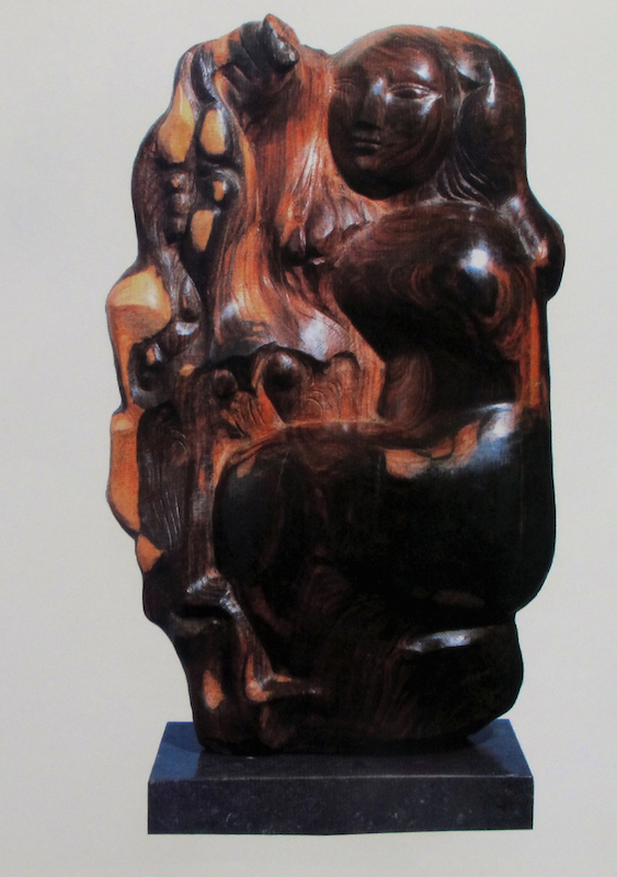 Lorrie Goulet, October, 1978. Lignum vitae wood, 22 x 12 1/2 x 8 in. Private collection.