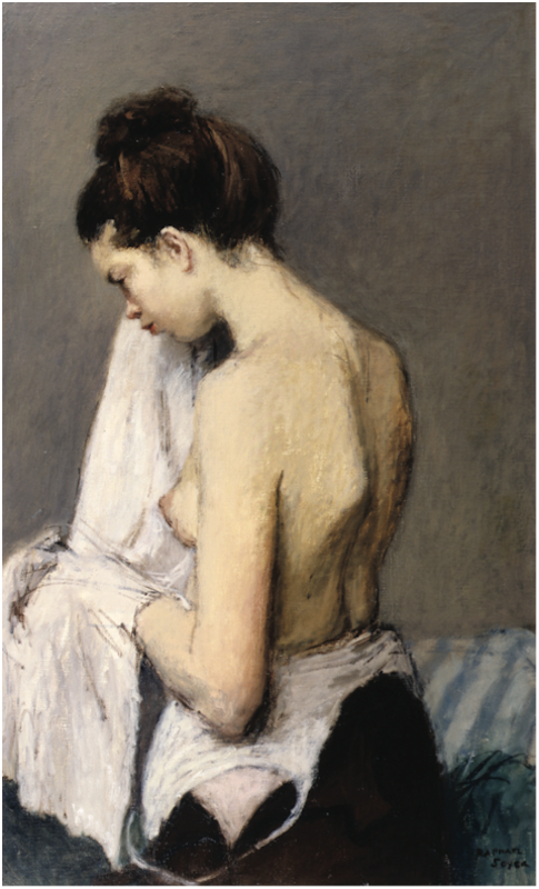 Raphael Soyer, After the Bath, 1946. Oil on canvas, 36½ x 22 in.
