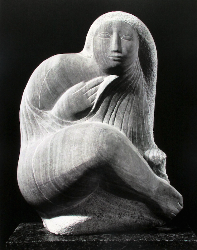 Lorrie Goulet, Selkie, 1975. Grey Marble, 19 x 13 x 9 in. Private collection.