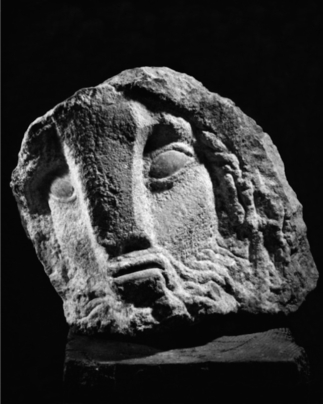 Lorrie Goulet, Ulysses, 1957. Granite, 14 x 18 in. Collection of Kirby Lane North Association.