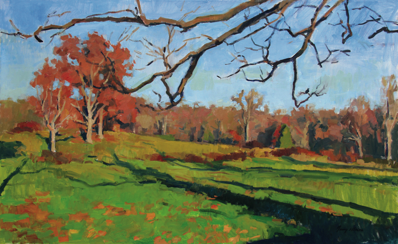 Jerry N. Weiss, October, undated. Oil on canvas, 30 x 48 in.