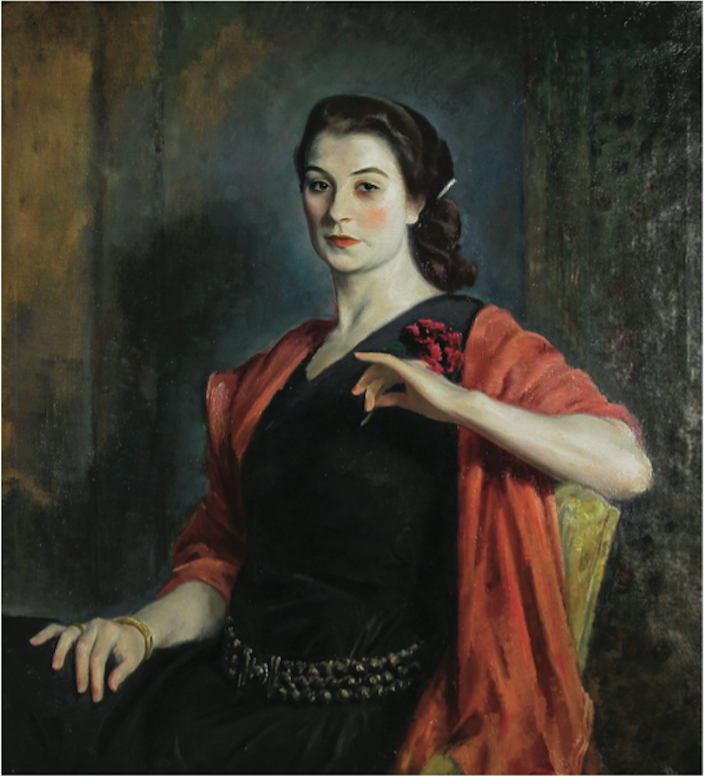 Eugene Speicher, Portrait of a French Girl (Jeanne Balzac), ca. 1924. Oil on canvas, 40 x 36½ in. Woodstock Artists Association and Museum Permanent Collection. Gift of E.G. Jarman, Jr.