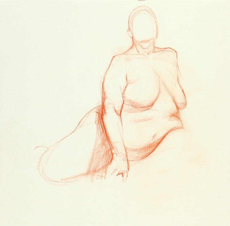Dan Gheno, Aviva, 2006. Sanguine, 16 x 16 in. Collection of the artist.