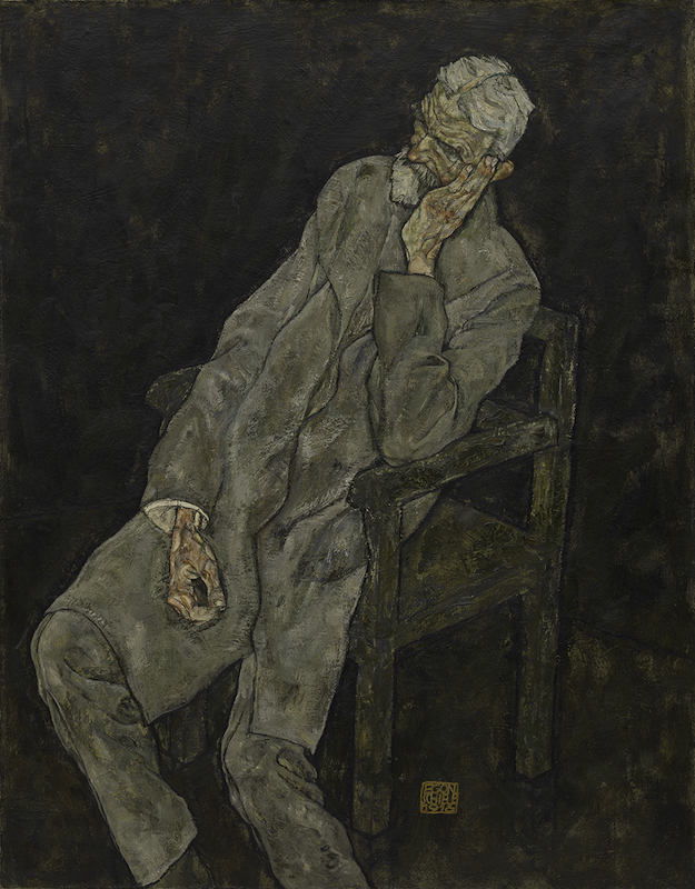 Egon Schiele, Portrait of Johann Harms, 1916. Oil with wax on canvas. The Solomon R. Guggenheim Museum, New York. Photo: The Solomon R. Guggenheim Foundation / Art Resource, NY