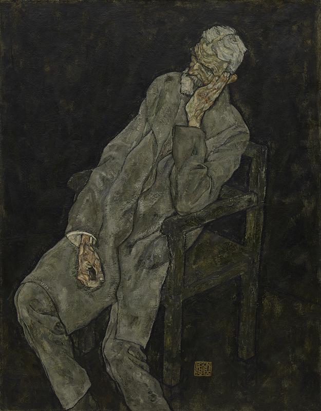 Egon Schiele, Portrait of Johann Harms, 1916. Oil with wax on canvas. The Solomon R. Guggenheim Museum, New York. Photo: The Solomon R. Guggenheim Foundation / Art Resource, NY