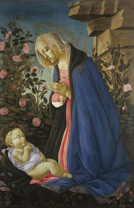 Sandro Botticelli, The Virgin Adoring the Sleeping Christ Child, ca. 1485.