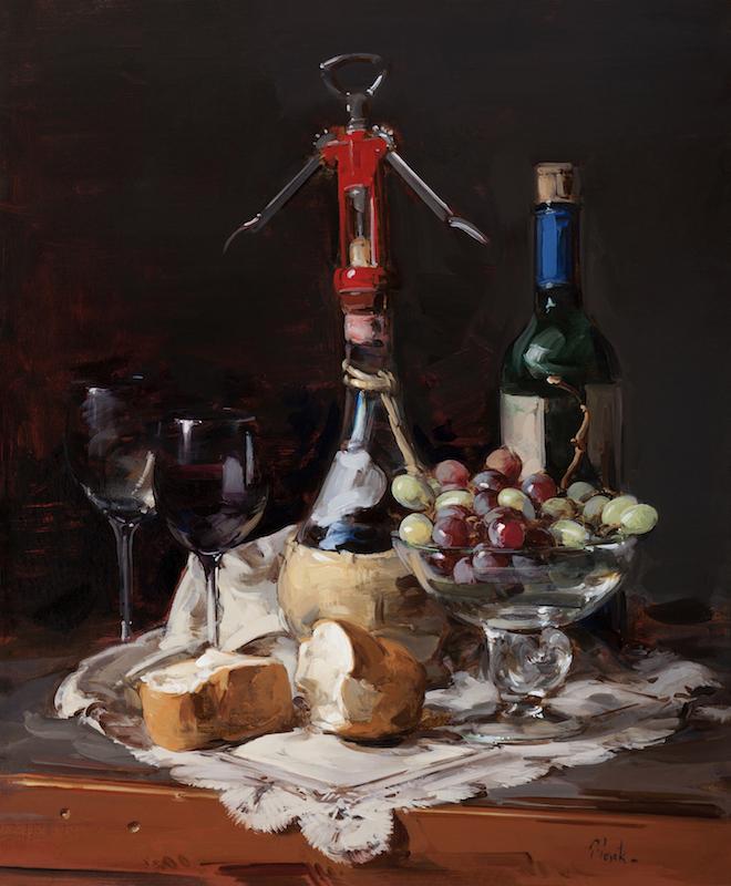 Thomas Torak, Bread and Wine, 2013. Oil on linen, 24 x 20 in.