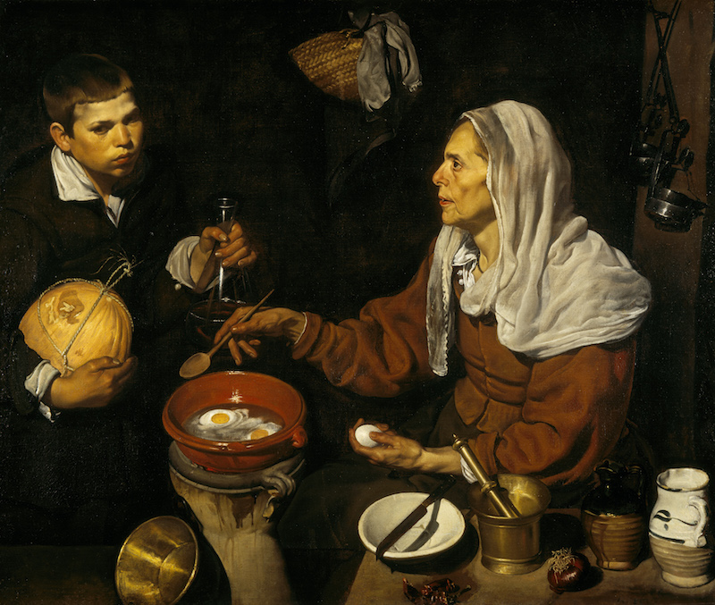 Diego Velázquez, An Old Woman Cooking Eggs, 1618.
