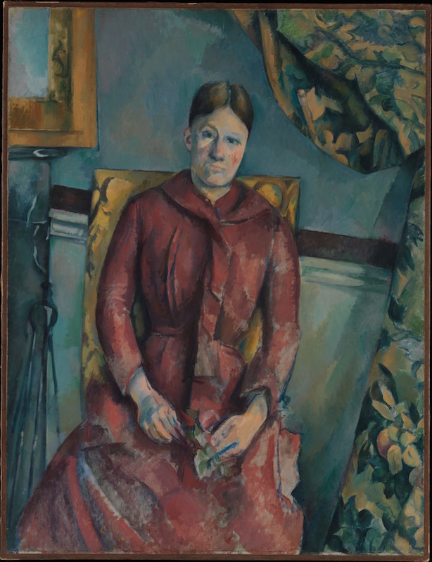 Paul Cézanne (French, 1839–1906). Madame Cézanne in a Red Dress, ca. 1888–90. Oil on canvas; 45 7/8 x 35 1/4 in. (116.5 x 89.5 cm). The Metropolitan Museum of Art, New York, The Mr. and Mrs. Henry Ittleson Jr. Purchase Fund, 1962 (62.45)