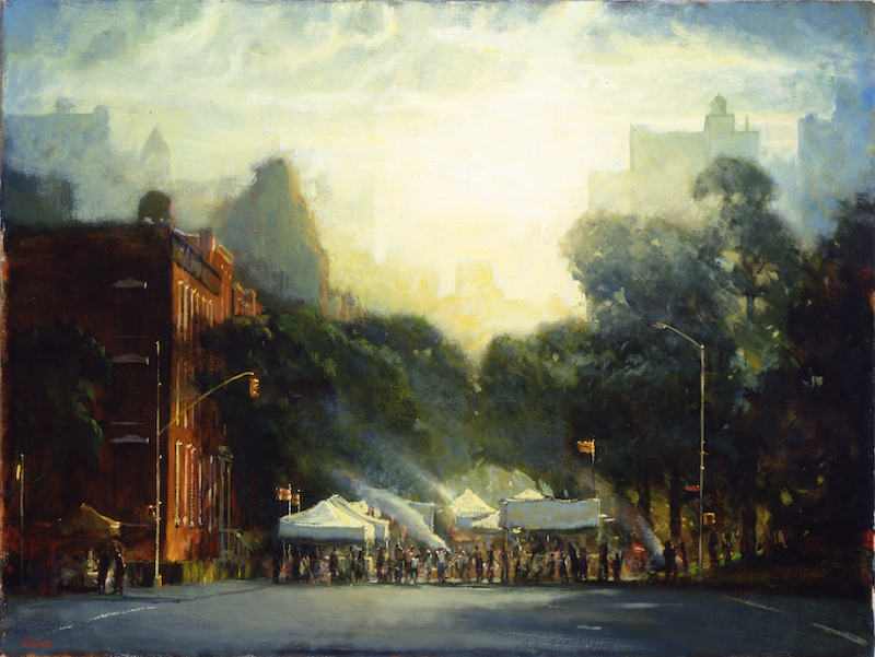 Gregg Kreutz, Street Fair. Oil on canvas, 22 x 28 in.