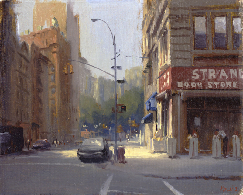 Gregg Kreutz, The Strand. Oil on linen, 16 x 18 in.