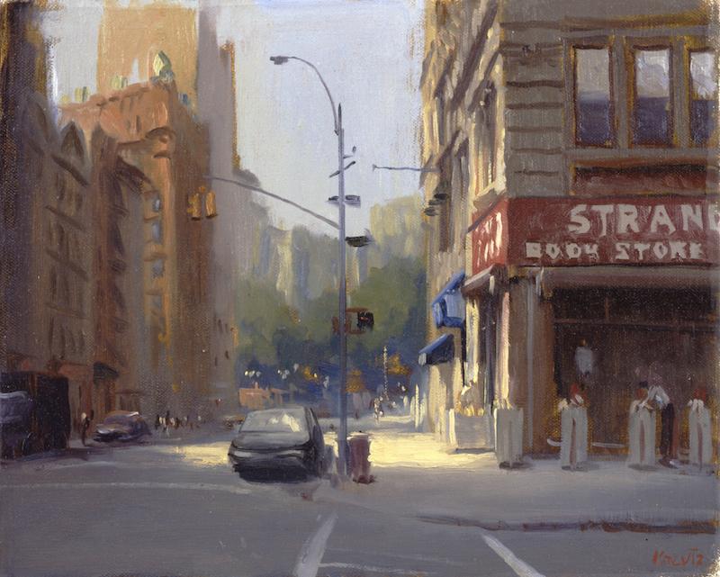 Gregg Kreutz, The Strand. Oil on linen, 16 x 18 in.