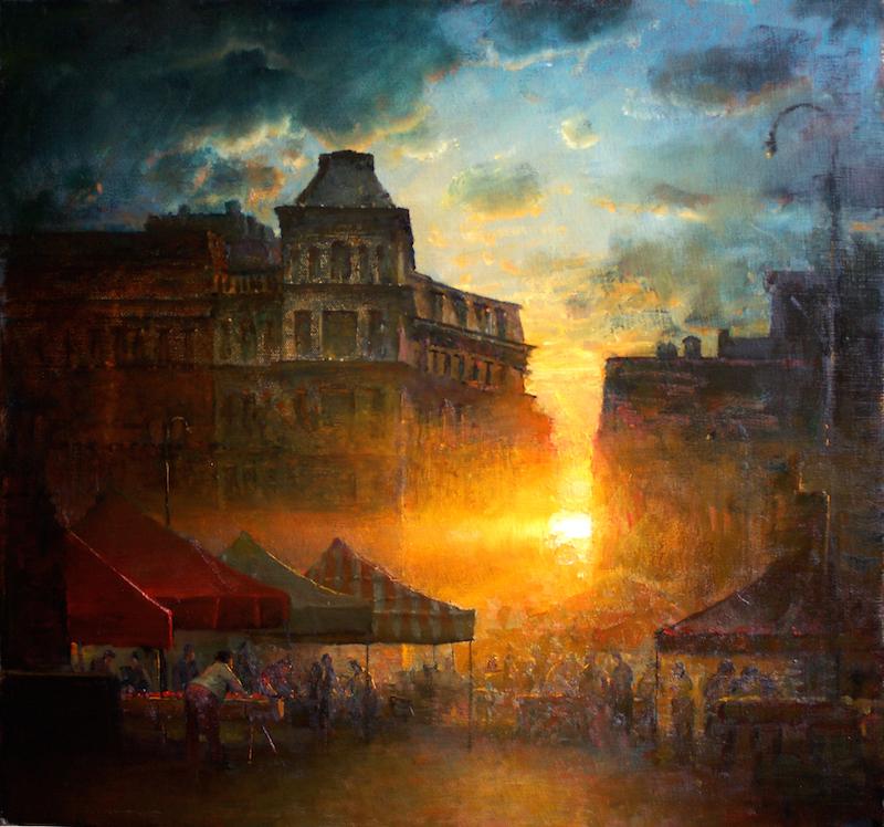 Gregg Kreutz, Sunset. Oil on linen, 22 x 25 in.