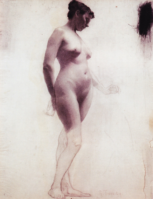 Richard Tweedy, Academic drawing, between 1894 and 1899. Vine charcoal on paper, 24 1/2 x 18 3/4 in. Permanent Collection, Art Students League of New York.