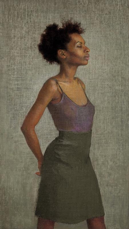 Ellen Eagle, Miss Leonard, 2010. Pastel on pumice board, 15 1/4 x 8 5/8 in.