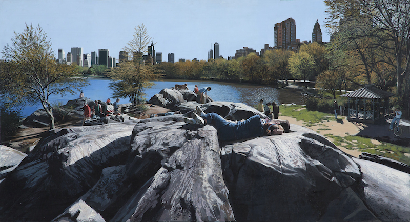 Richard Estes, Sunday Afternoon in the Park, 1989. Oil on canvas, 