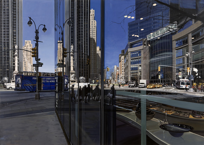 Richard Estes Painting New York City Review Museum Of