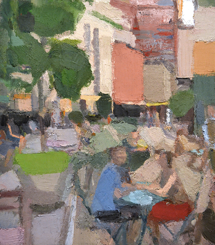 John Dubrow, TriBeCa 2,2014-15. Oil on linen, 50 x 44 in. Courtesy of the Artist and Lori Bookstein Fine Art