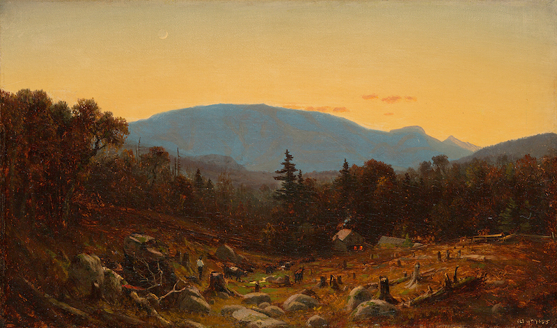Sanford Robinson Gifford (1823-1880), A Sketch of Hunter Mountain, Catskills (Twilight on Hunter Mountain), 1865. Oil on canvas 10⅛ x 16⅞ in.