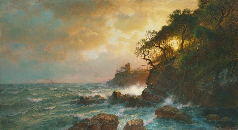 William Stanley Haseltine (1835–1900), Coast of Sori, 1893. Oil on canvas, 25 3/16 x 45 5/16 in.