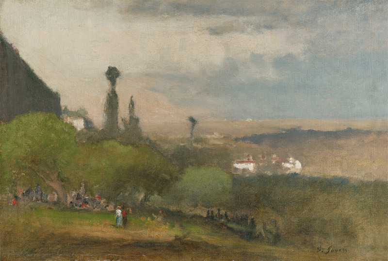 George Inness (1825–1894). Monte Lucia, Perugia, 1873. Oil on canvas, 13 7/8 x 19 3/4 in.