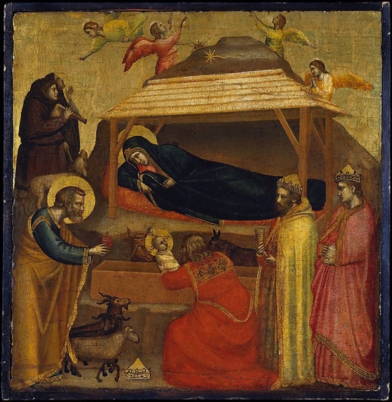 Giotto di Bondone, The Adoration of the Magi, possibly ca. 1320. Tempera on wood, gold ground, 17 3/4 x 17 1/4 in. John Stewart Kennedy Fund, 1911. The Metropolitan Museum of Art.