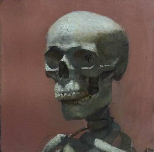 medrez_yael_05_mr._skull_12x12_oil