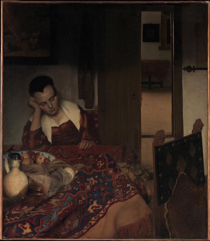 A Maid Asleep