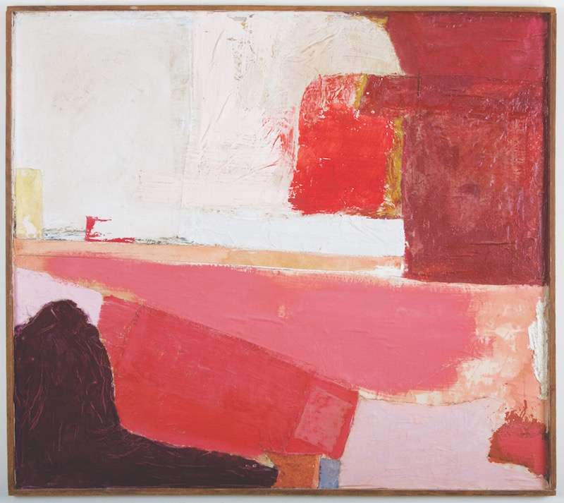 Robert Rauschenberg, Untitled, 1949. Collage of fabric and paint on panel, 44 x 49½ in. Courtesy of Private Collection