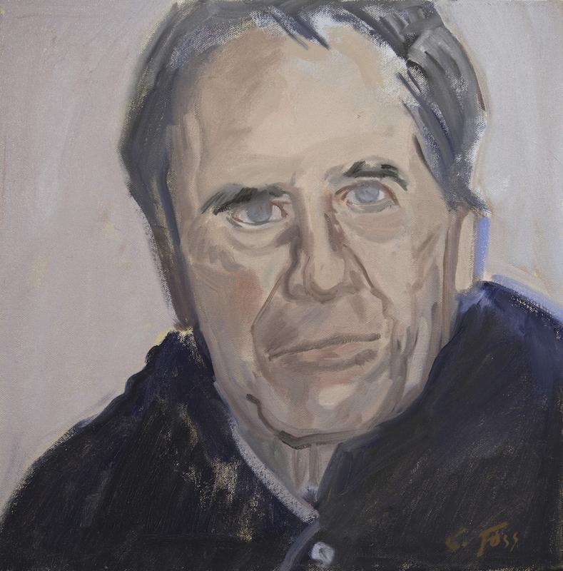 Cornelia Foss, Lukas, 2006. Oil on canvas, 16 x 16 in.