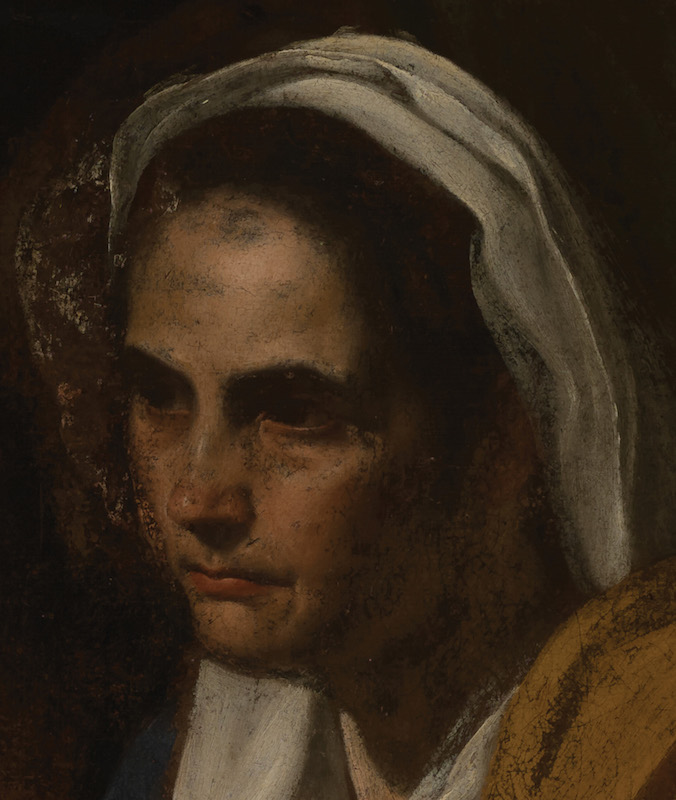 Diego Velázquez, detail of The Education of the Virgin, (ca. 1617), showing the head of Saint Anne